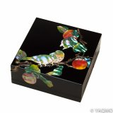 Raden Lacquerware Jewelry Box / Persimmon
