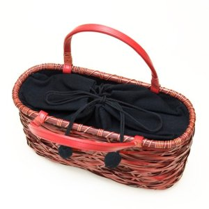 Photo2: Bamboo Bags / Random Weave Handbag