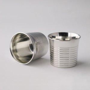 Photo3: Pewter Decanter and Sake Cup Set: Stripe Pattern