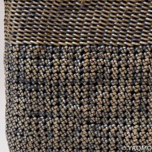 Photo3: Rattan Bags / Cobblestone Weave Tote - Brown
