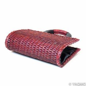 Photo3: Rattan Bags / Mat Weave Handbag