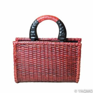 Photo1: Rattan Bags / Mat Weave Handbag