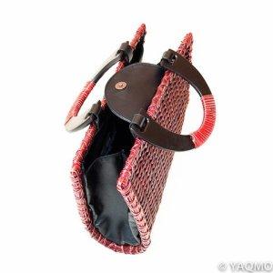 Photo2: Rattan Bags / Mat Weave Handbag