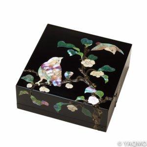 Photo1: Raden Lacquerware Jewelry Box / Tea Plant