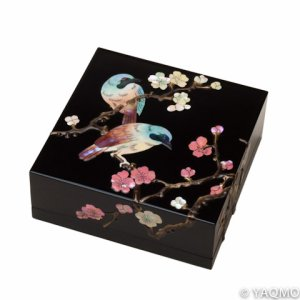 Photo1: Raden Lacquerware Jewelry Box / Japanese Apricot