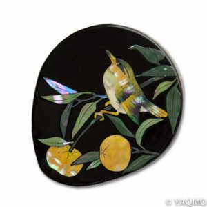 Photo1: Raden Lacquerware Mirror / Citrus