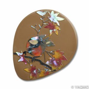 Photo1: Raden Lacquerware Mirror / Maple