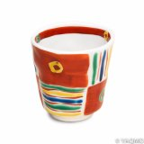 Porcelain Cups and Teapots / Modern Kutani Porcelain Cup: Kutani Four Color Pattern