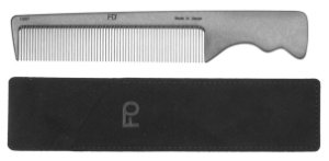 Photo1: Fine Tooth Pocket-type Fluorine-Carbon Hair Comb