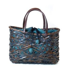 "Photo1: Bamboo Bags / Random Weave Bag: ""Waves"""