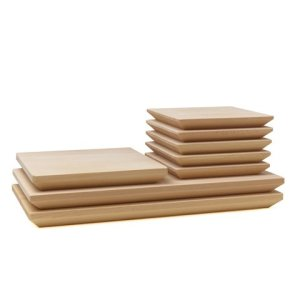 Photo2: Wooden Containers and Tableware / Wooden Sushi Board Set (6 sets)