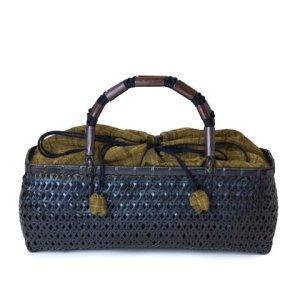 Photo1: Bamboo Bags / Hemp-leaf Weave Bags