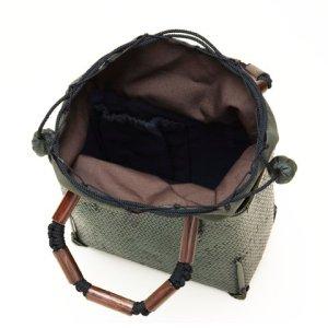 Photo3: Bamboo Bags / Wickerwork Weave Bag (small)
