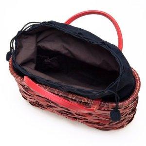 Photo3: Bamboo Bags / Random Weave Handbag