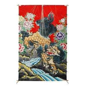 Photo1: Japanese Edo Kites  /  Leaping Lion
