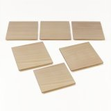 Wooden Containers and Tableware / Square Wooden Serving Plate Set (6 pieces)
