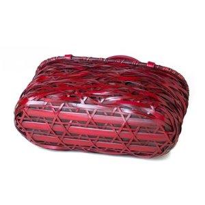 Photo4: Bamboo Bags / Random Weave Handbag