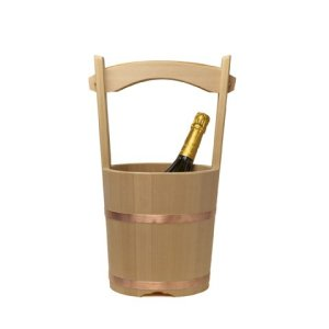 Photo2: Wooden Containers and Tableware / Wooden Bucket and Dipper Set