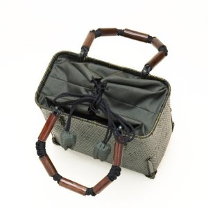 Photo2: Bamboo Bags / Wickerwork Weave Bag (small)