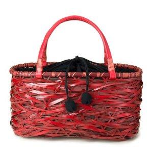 Photo1: Bamboo Bags / Random Weave Handbag