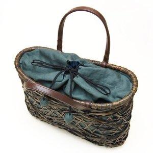 "Photo2: Bamboo Bags / Random Weave Bag: ""Waves"""