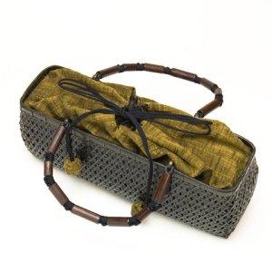 Photo2: Bamboo Bags / Hemp-leaf Weave Bags