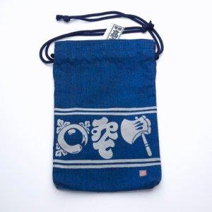 "Photo1: Tote Bags /  Edo Tote Sack: ""Ax, Zither & Chrysanthemum"""