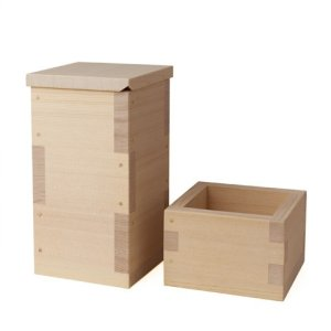 Photo2: Wooden Containers and Tableware / Wooden Sake Cup (Masu)