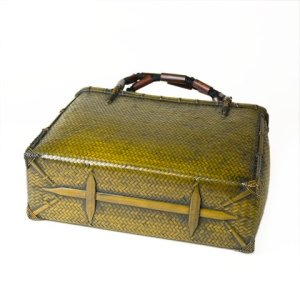 Photo4: Bamboo Bags / Wickerwork Weave Bag (medium)