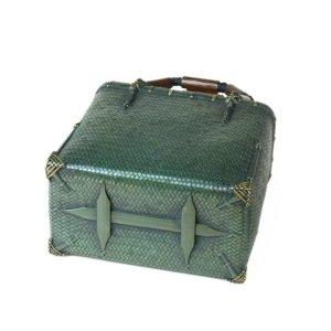 Photo4: Bamboo Bags / Wickerwork Weave Bag (small)