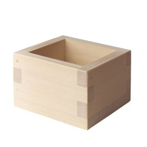 Photo1: Wooden Containers and Tableware / Wooden Sake Cup (Masu)