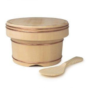 Photo1: Wooden Containers and Tableware / Wooden Container with Spatula