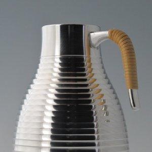 Photo2: Pewter Decanter and Sake Cup Set: Stripe Pattern