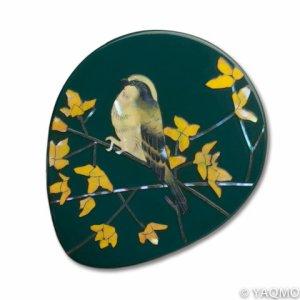 Photo: Raden Lacquerware Mirror / Golden Bells